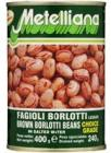 Metelliana – Hnědé fazole Borlotti 400 g